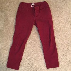 Berry/wine colored ankle length work pants size 2